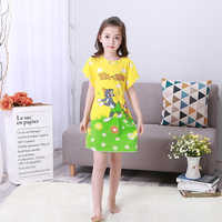 Wholesale 3-12Y Wear New 2018 Summer Style Girl Nightgown Children Cloth Girls Sleepwear Kids Girls Princess Nihgtdress