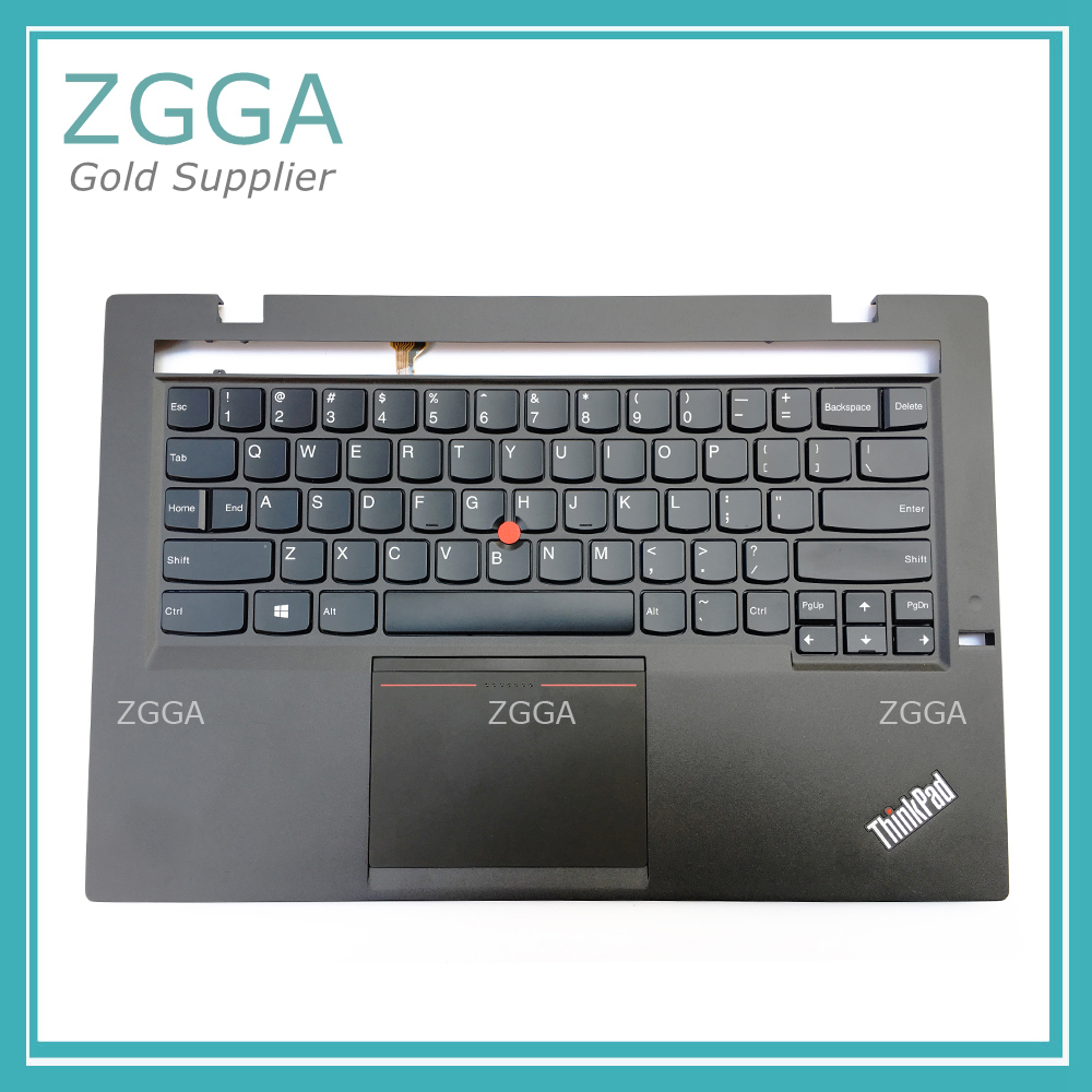 Refurbished For Lenovo ThinkPad X1 Carbon Gen 2nd MT: 20A7 20A8 Palmrest US Backlit Keyboard Bezel Upper Cover English Touchpad gzeele new for lenovo thinkpad s1 yoga keyboard bezel palmrest cover with touchpad and connecting cable 00hm067 00hm068 black c