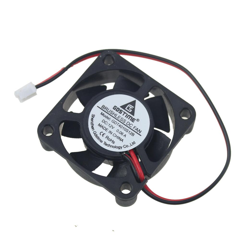 1pcs Gdstime 12V 4cm 40x40x10mm 4010 2pin Small DC Brushless Cooling Cooler Fan 40mm x 10mm 7 Blades gdstime 1 pcs cooling fan 40mm x 15mm 4cm 2 pin dc 4015 small brushless cooler fan 12v pc computer chip 40x40mm