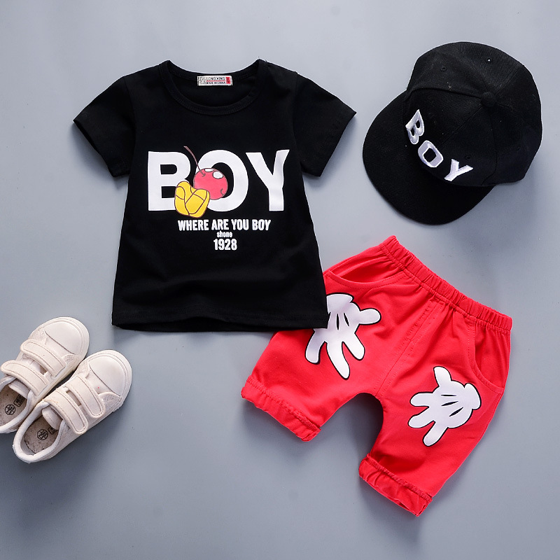 Summer boys clothing set children T-shirt+pants kids 2pcs sport suits boys tracksuits costume teenage kids clothing boys set фигурка chuggington паровозик коко