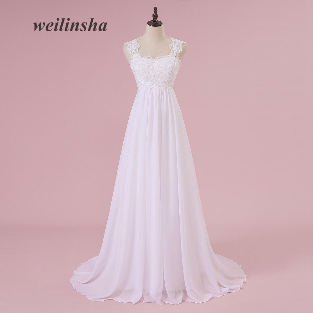 Comprar ahora Weilinsha Playa Blanca vestidos de novia de encaje de ...
