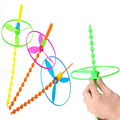 10PCS/Lot DIY Colorful Classic Children Kids Toys Long Bamboo Dragonfly Flying Disk & Arrows Outdoor Toy Flying Saucer Frisbee