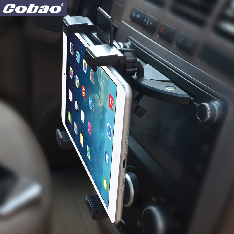 Universal 7 8 9 10 11 inch car tablet PC holder Car Auto CD Mount Tablet PC Holder Stand for iPad 2 3 4 5 Air for Galaxy Tab  цена и фото
