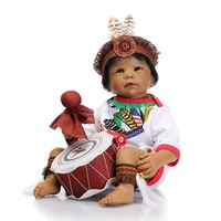 2016 most popular doll india doll Reborn Baby Doll Fashion Doll dark brown colour for movie tools