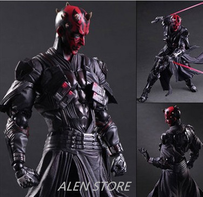 ALEN Star Wars Play Arts America Anime Movie Darth Maul Dark Knight Action Figure Toys 27cm Kids Collection Model play arts 27cm arkham knight batman robin action figure model toys