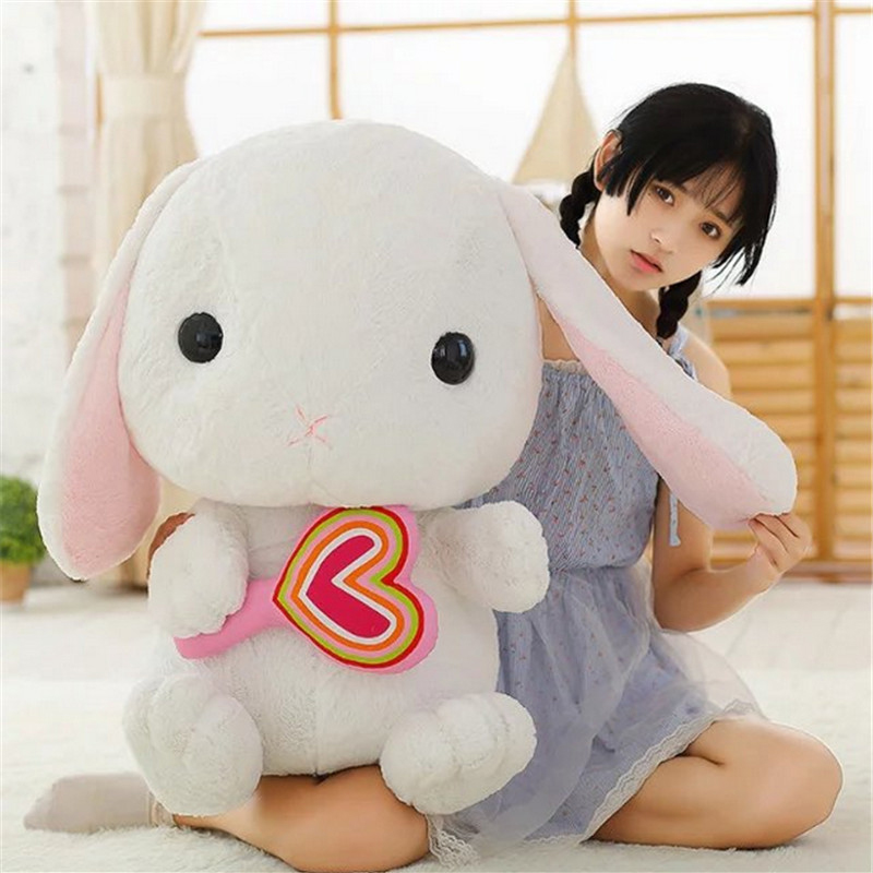 Fancytrader 30'' / 75cm Giant Rabbit Toy Stuffed Soft Plush Lovely Cartoon Bunny Doll 8 Models Nice Gift fancytrader new style giant plush stuffed kids toys lovely rubber duck 39 100cm yellow rubber duck free shipping ft90122