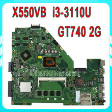 X550vb Laptop motherboard For Asus X550CC REV2.0 Mainboard With i3-3110 Processor GT740 2g fully tested