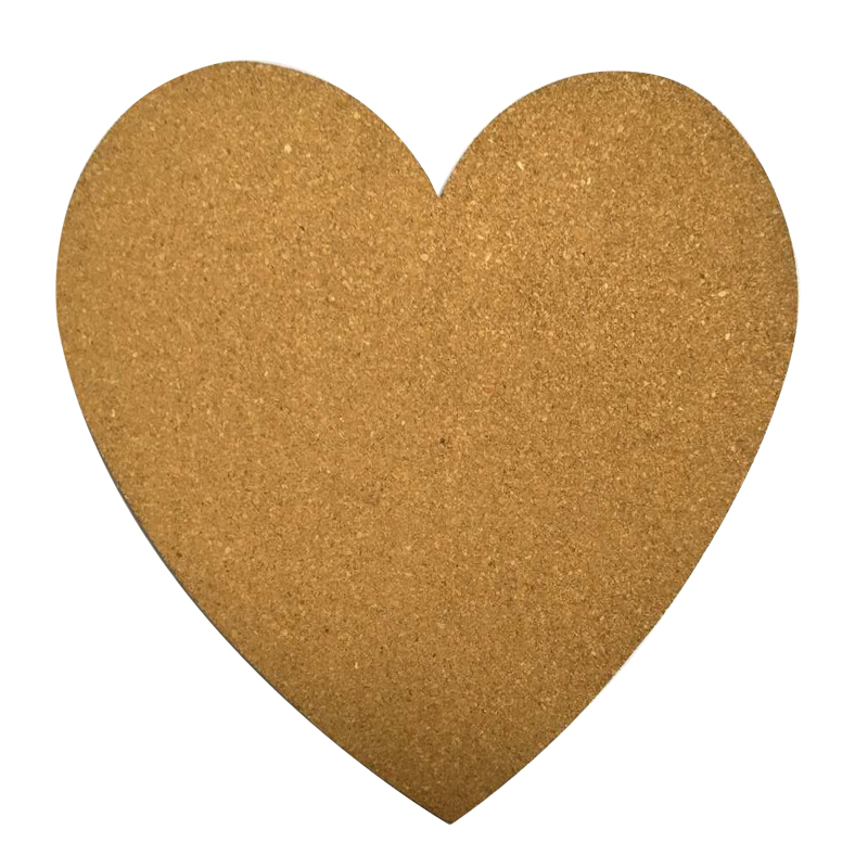 NNRTS Big Heart Sharp Cork Wood Message Board Phellem Cork Wooden Bulletin Board Single Soft Wood Wall Board With Sticker