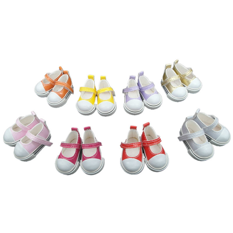 Tilda 5 Pairs 5cm PU Leather Doll Toy Shoes,1/6 Mini Doll Sneakers Summer Slippers for Tilda Cud Accessories for BJD Dolls Toy mini toy doll shoes 6 5cm leather shoes for 1 4 1 3 bjd doll and 16 inch sharon doll accessories