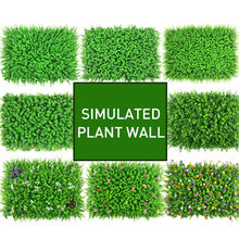 Artificial Grass Green Planting Wall Simulated Plant Wall Decoration Living Room Background Flower Eugali Plastic Lawn Balcony(China)