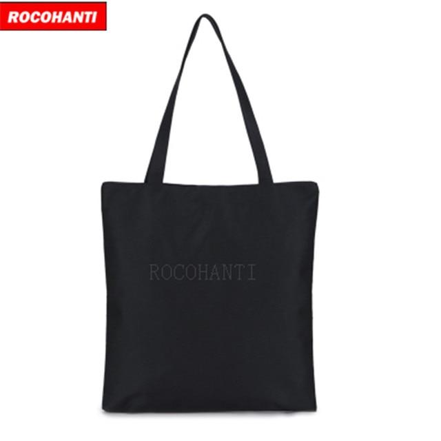 50x Custom Logo Printed Black Canvas Bag Literary Women S Shoulder Eco Cloth Bags For