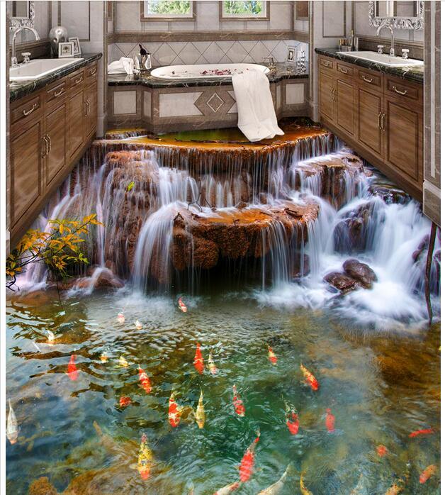 Custom Photo 3d Flooring Bedroom Waterproof Pvc Floor