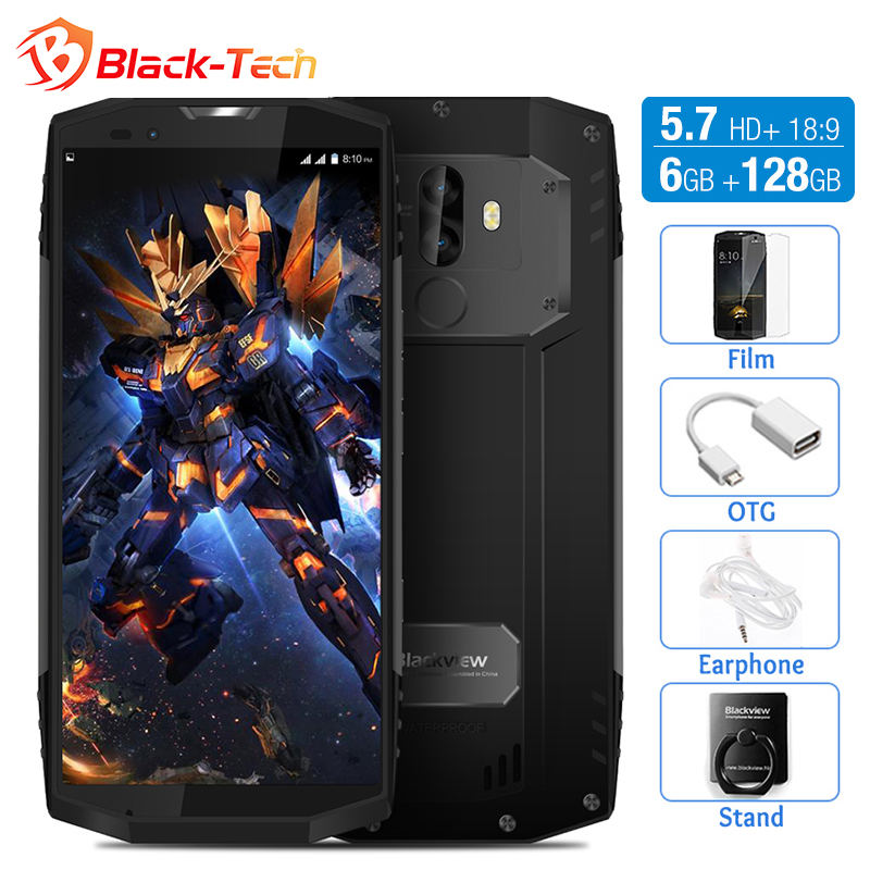 Blackview BV9000 Pro 4G IP68 Waterproof Smartphone 5.7 HD+ 18:9 Octa Core Android 7.1 6GB+128GB 13MP+5MP Cam 4180mAh Cellphone
