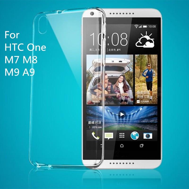 Кристалл мягкий прозрачный ТПУ Силиконовая резина кожи гель ультра тонкий чехол для HTC один m7 M8 M9 A9