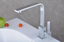 Хром Латунь Поворотный Одной Ручкой Кухонный Кран Робине Torneiras Водопроводной Воды Кухне Смеситель