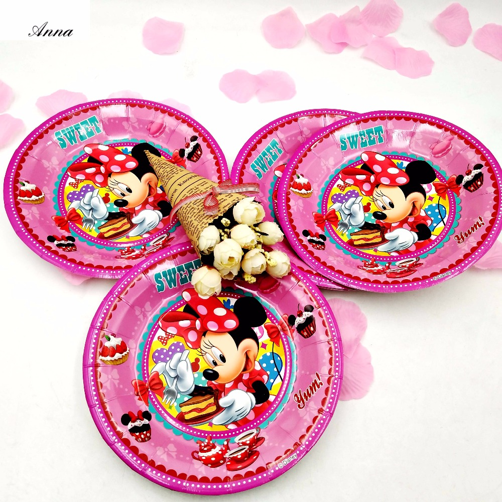 6pcs/bag 7inches Disney Minnie Mouse Party Supplies Paper Plate Cake Dishes Kids Birthday Baby Shower Decoration Plates 7inches-in Disposable Party ...  sc 1 st  AliExpress.com & 6pcs/bag 7inches Disney Minnie Mouse Party Supplies Paper Plate Cake ...