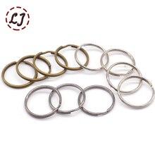 10 шт./лот, 25 мм, 20 мм, серебро, бронза, золото, металлические брелоки, пряжки для ключей, аксессуары для ключей