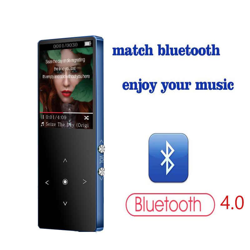 MP3player と Bluetooth 4.116 ギガバイトのポータブルロスレス音質メタル音楽プレーヤー fm ラジオレコーダータッチボタン音楽