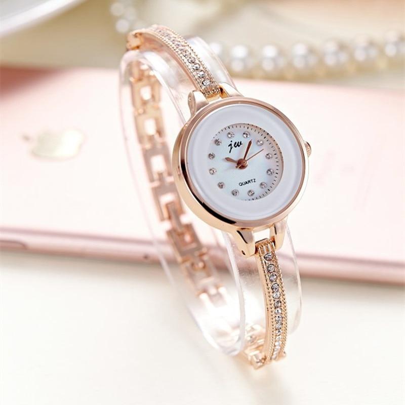 Korean Style Ladies Quartz Watches Fashion Women Wristwatches Bracelet Bangle Luxury Best Gift Fit Party Women Dress Watch AC077