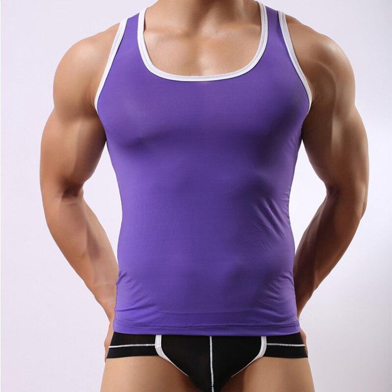 super-sexy !!! intimate men vest underwear colorful and breathable undershirt mens singlet underwear #bx001