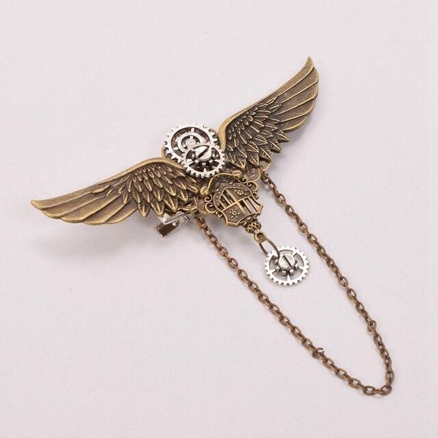 Заколка с крыльями металлическая 3