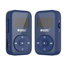 RUIZU X26 Bluetooth Deporte reproductor de música MP3 Radio FM Grabador de Tarjeta Supprot SD Clip Bluetooth reproductor de MP3 8 GB