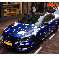Blue Black White Camo Vinyl Foil For Car Wrapping With Air Rlease Camouflage Car Styling Covers Size: 1.52x5m/10m/15m/20m/30m