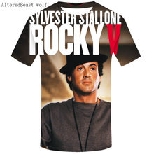 14e0a27e 2019 Fashion Men Rocky Balboa 3d T shirt O-Neck Short Sleeves Men's  Stallone Shirt Famous Movie Rocky Balboa T Shirts Male