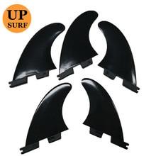 3pcs/5pcs Surfing surf FCS2 Performer 5set/lot Black Fin Tri-quad fin set Plastic fins