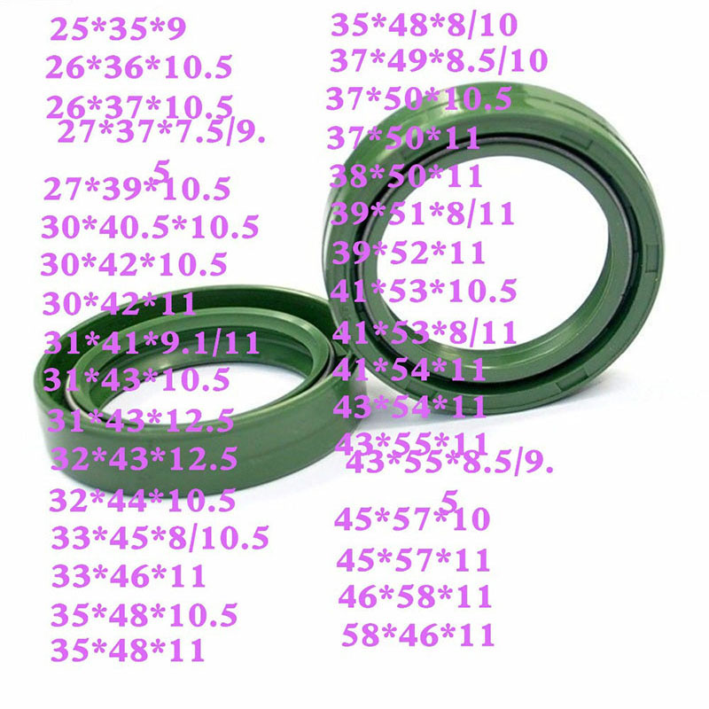 LOPOR Motorcycle parts Oil Absorbing Front fork shock absorbing Ring oil seal 37X50X11 25X35X9 43X55X9.5 30X42X11 41X53X10.5
