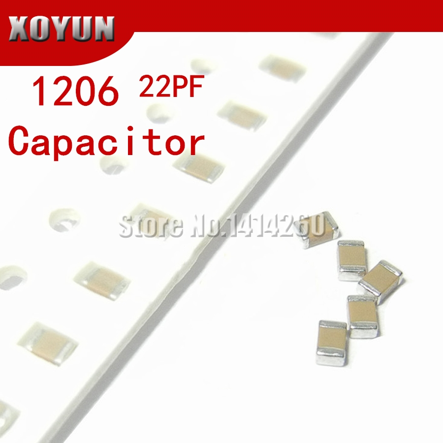 100pcs/lot 1206 22PF Error 5% 50V 1206 22P smd capacitor image