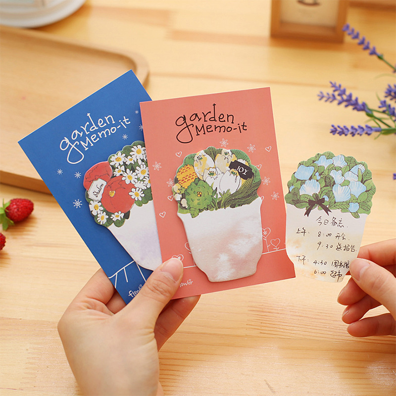 20 pcs/lot gracebell stationery N stickers creative flower pot office memo posted message posted