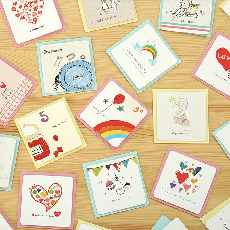 55 pcs pack vintage garnish mini lomo card greeting card postcard
