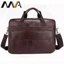 MVA Leather Men Briefcase Leather Laptop Bag Men Bag Men Messenger Bags Casual Handbag bolsa Shoulder Crossbody Bags for Man