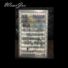 Acrylic Charm Beads and Findings Display Tray Box for Troll Bracelet  Necklace Pearl Vintage Jewelry Bead Storage Organizer Case