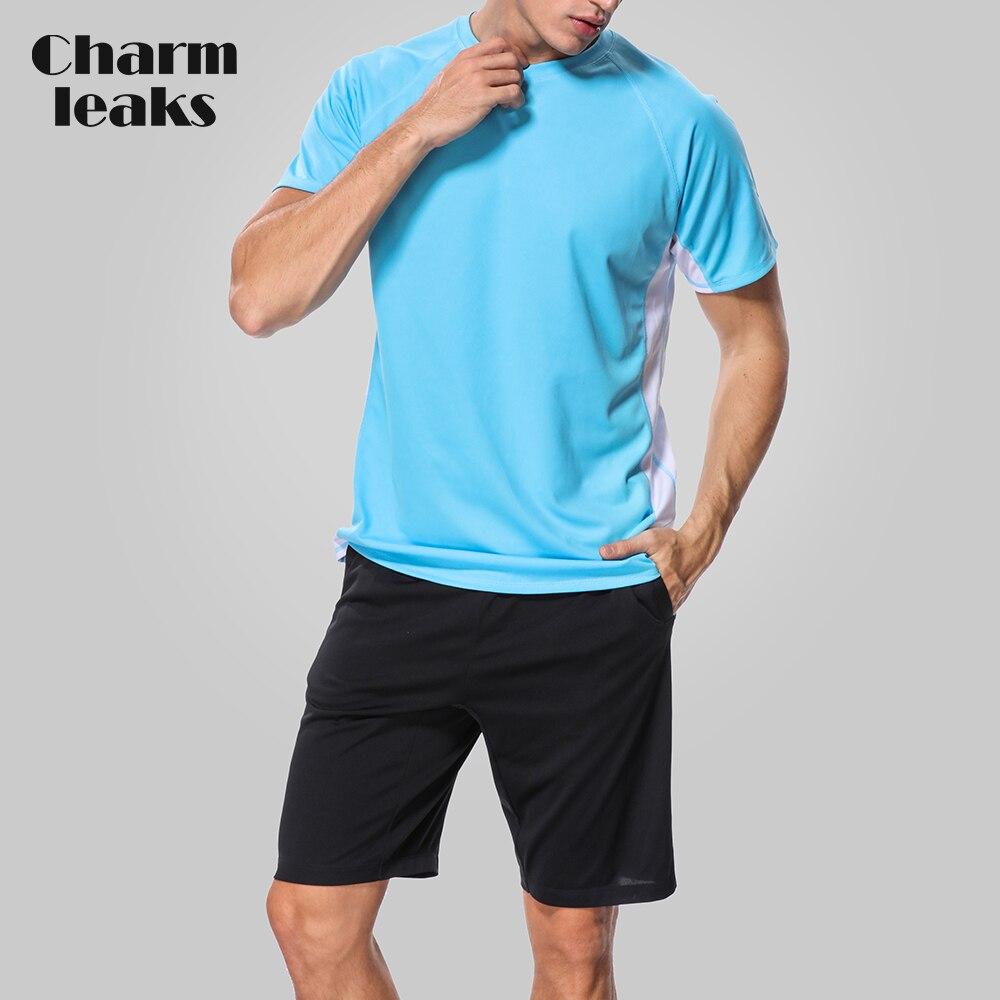 Charmleaks Men Rashguard Dry-fit Shirts Loose Fit Hiking Shirt UV-Protection Running Rash Guard Top UPF 50+ Beach Wear