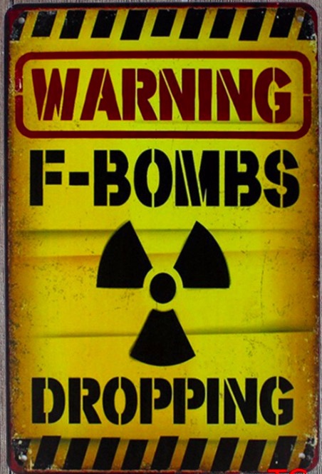 1 pc warning bombs dropping room No trespassing radiation Tin Plate Sign wall plaques Man cave vintage plaques metal Poster in Plaques Signs from Home Garden