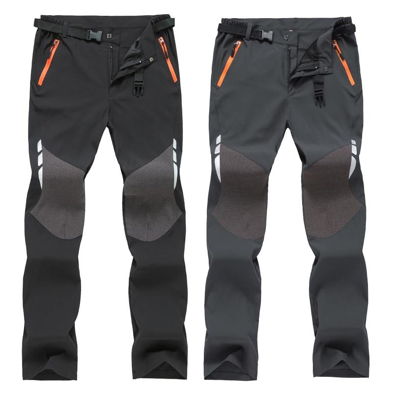 Outdoor Summer Mens Travel Pants Quick Dry Women Fishing Water Proof Hiking Pants Elastic Slim Climbing Trekking Sports Trousers