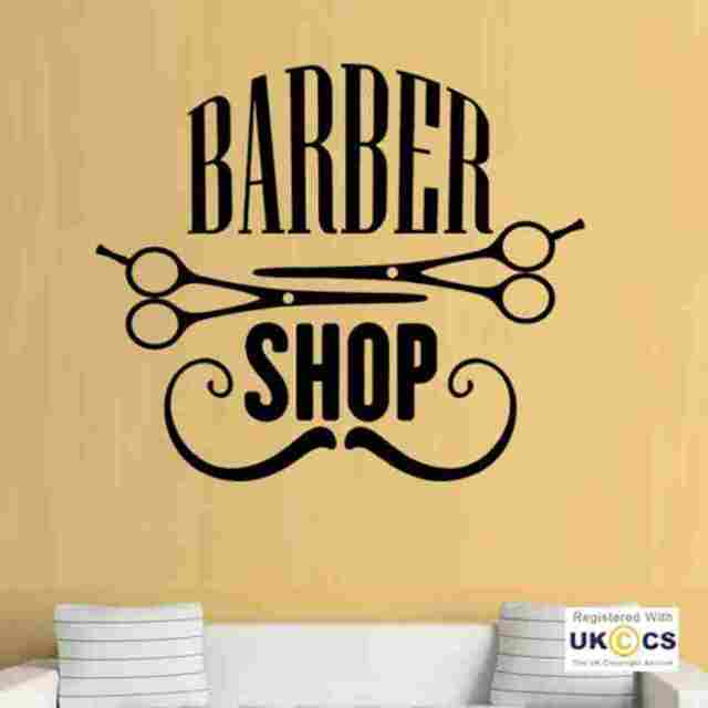 Man Barber Shop Sticker Name Bread Decal Haircut Shavers Crown ...