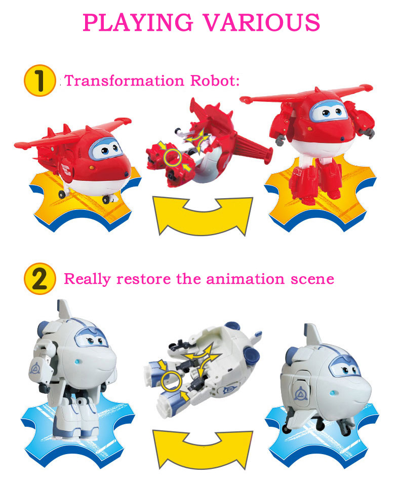 Image 4 - 25 Style Big Super Wings Deformation Airplane Robot Action Figures Super Wing Transformation Toys for Children Gift BrinquedosAction & Toy Figures   -