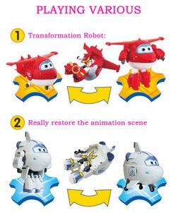 Image 4 - 25 stil Großen Super Flügel Verformung Flugzeug Robot Action figuren Super Flügel Transformation Spielzeug für Kinder Geschenk Brinquedos