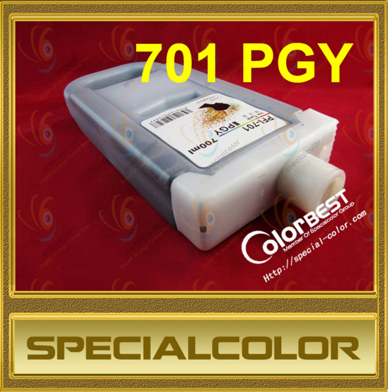 все цены на PFI-701 pigment ink tank (compatible) PGY with chip for IPF8000/8000S/8100 онлайн