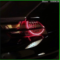 For Ford Mustang 2010 2011 2012 LED Perimeter Headlight Rings Halo Multi Color RGB Angel Demon