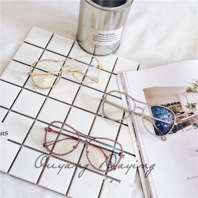 2016 New Fashion Acryl Diamond Eyewear Frame Luxury Decorative Women Crystal Glassframe