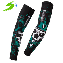 Running Cycling Arm Warmers Bicycle Compression Arm Sleeves Sun UV Protection Basketball Sports Bike Cycling Armwarmers Sb028