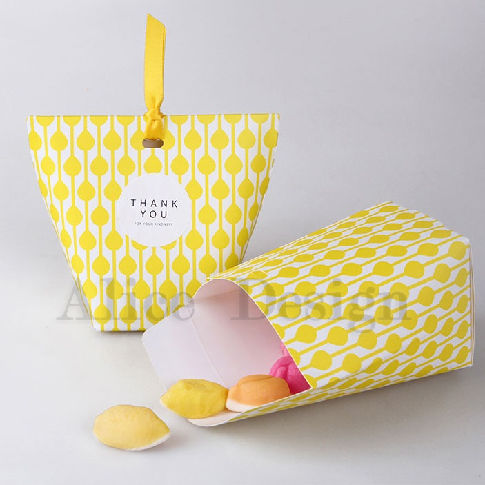 New 10pcs Yellow Paper Box For Candy Storage Boxes Gift Packaging Wedding  Birthday Party Favor Box Multi Use In Gift Bags U0026 Wrapping Supplies From  Home ...