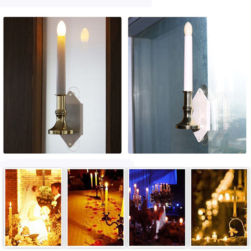 2pcslot solar led flameless window candle light creative power lamp night lights christmas decorative