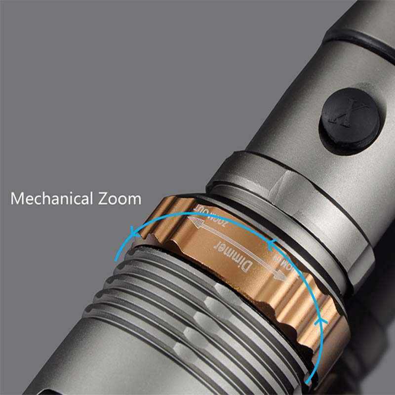 Linterna LED 8000lm T6 linterna recargable linterna de caza para batería 18650/AAA carga directa
