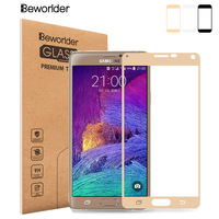 Beworlder Full Cover For Samsung Galaxy Note 4 Tempered Glass Screen Protector 9H HD Anti-Explosion Phone Film For Samsung Note4