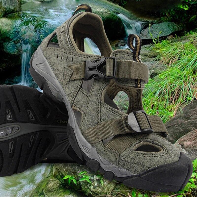 2018 en amont Aqua chaussures hommes d'été léger à séchage rapide chaussures de plage PU eau sandales hommes en plein air amortissement de l'eau Sneaker